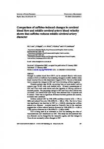 Comparison of caffeine-induced changes in cerebral blood flow and ...