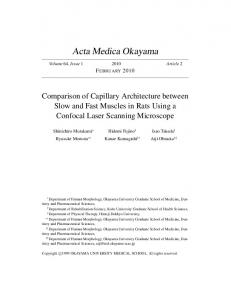 Comparison of Capillary Architecture between Slow and Fast Muscles ...