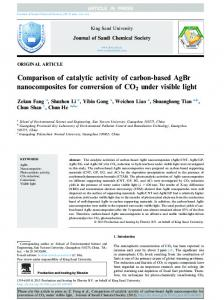 Comparison of catalytic activity of carbon-based AgBr ... - CyberLeninka