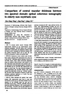 Comparison of central macular thickness between two spectral ...