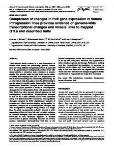 Comparison of changes in fruit gene expression in ... - Oxford Journals
