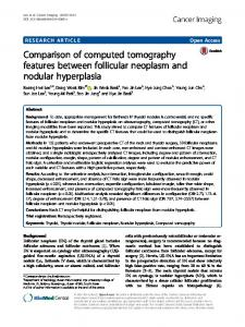 Comparison of computed tomography features ... - Springer Link