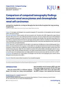 Comparison of computed tomography findings between renal ...