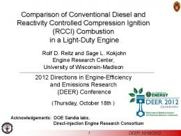 Comparison of Conventional Diesel and Reactivity Controlled