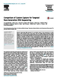 Comparison of Custom Capture for Targeted Next-Generation DNA ...