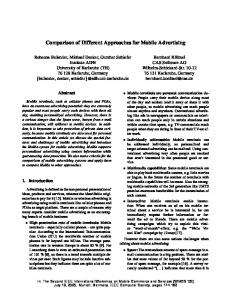 Comparison of Different Approaches for Mobile Advertising