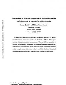 Comparison of different approaches of finding the positive definite