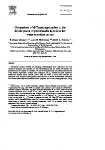 Comparison of different approaches to the ...