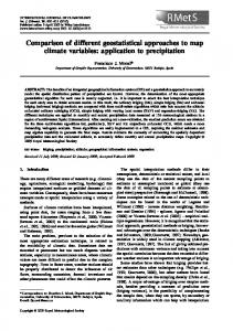 Comparison of different geostatistical approaches ... - Semantic Scholar