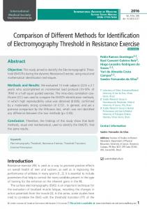 Comparison of Different Methods for Identification of
