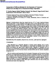 Comparison of Different Methods for the Evaluation of ...