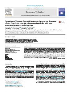 Comparison of digestate from solid anaerobic ...