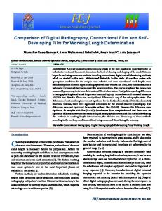 Comparison of Digital Radiography, Conventional