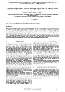 Comparison of digital surface models for snow depth ... - ISPRS Archives