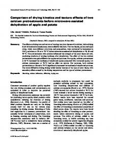 Comparison of drying kinetics and texture effects of two calcium ...