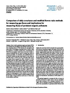 Comparison of eddy covariance and modified ... - Atmos. Chem. Phys