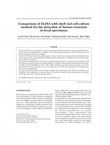 Comparison of ELISA with shell vial cell culture