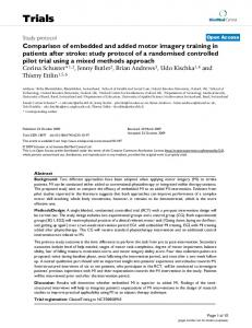 Comparison of embedded and added motor imagery training in ...
