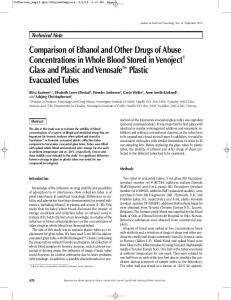 Comparison of Ethanol and Other Drugs of Abuse Concentrations in ...