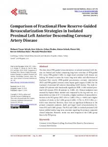 Comparison of Fractional Flow Reserve-Guided Revascularization