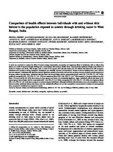Comparison of health effects between individuals with and without ...