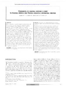 Comparison of humoral response in sheep to Fasciola hepatica and ...