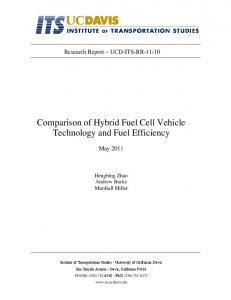 Comparison of Hybrid Fuel Cell Vehicle Technology and Fuel Efficiency