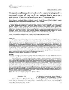 Comparison of inoculation methods for characterizing relative ...