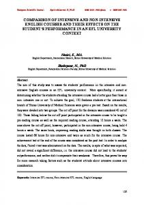comparison of intensive and non-intensive english courses and their ...
