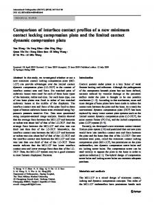 Comparison of interface contact profiles of a new minimum contact ...