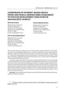 comparison of internet-based versus paper-and-pencil administered ...
