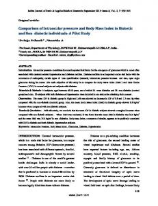 Comparison of Intraocular pressure and Body Mass Index in ... - IJBAMR
