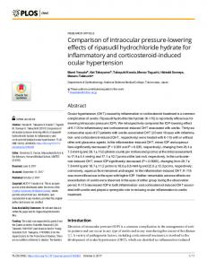 Comparison of intraocular pressure-lowering effects of ripasudil