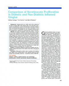 Comparison of Keratinocyte Proliferation in Diabetic ...