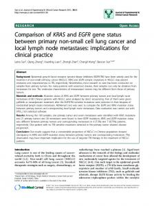 Comparison of KRAS and EGFR gene status between primary non ...