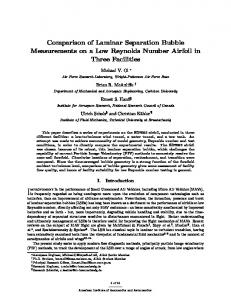Comparison of Laminar Separation Bubble ...