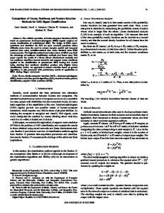 Comparison of linear, nonlinear, and feature selection methods for ...