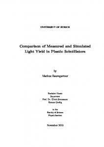 Comparison of Measured and Simulated Light Yield in Plastic ...