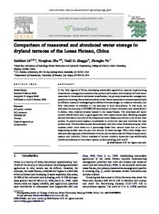 Comparison of measured and simulated water storage in ... - USDA ARS