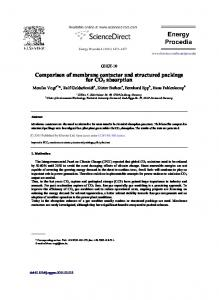 Comparison of membrane contactor and structured ... - ScienceDirect