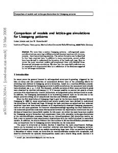 Comparison of models and lattice-gas simulations for Liesegang ...