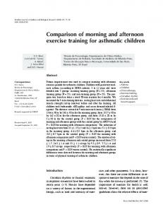 Comparison of morning and afternoon exercise ... - Semantic Scholar