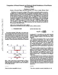 Comparison of Neural Network and Hadronic Model Predictions of ...