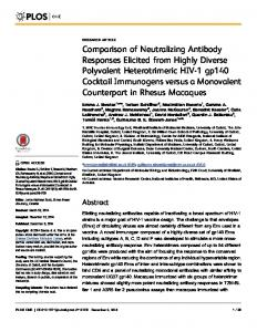Comparison of Neutralizing Antibody Responses Elicited from Highly ...