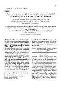 Comparison of nonsurgical periodontal therapy with oral ... - Core