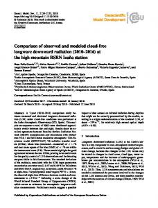 Comparison of observed and modeled cloud ... - Geosci. Model Dev.