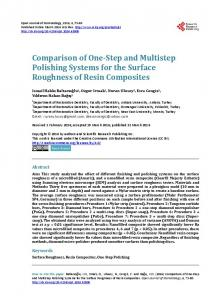 Comparison of One-Step and Multistep Polishing Systems for the