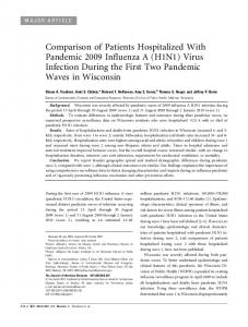 Comparison of Patients Hospitalized With ... - Oxford Academic