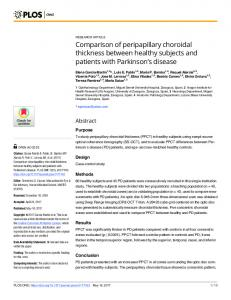 Comparison of peripapillary choroidal thickness between ... - PLOS