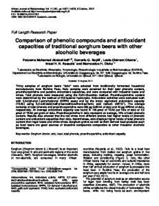 Comparison of phenolic compounds and antioxidant capacities of ...